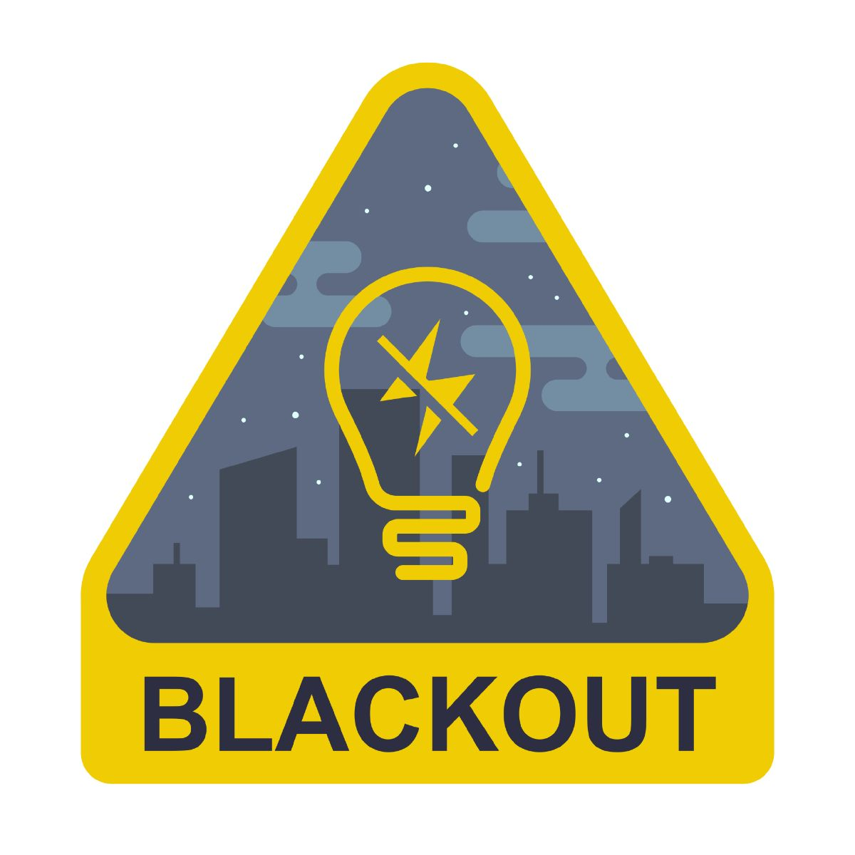 black out yellow sign