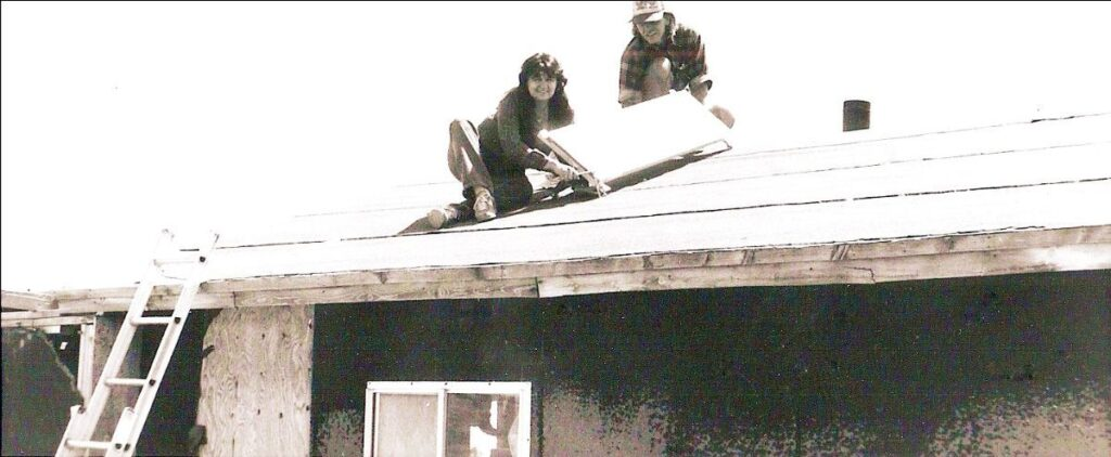 bonnie on the roof